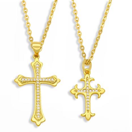 collar de cruz de acero inoxidable hip hop NHAS300812's discount tags