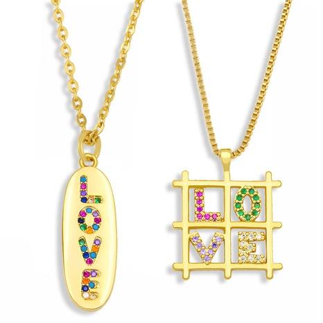 carta de amor colgante collar de acero titanio diamante NHAS300813's discount tags