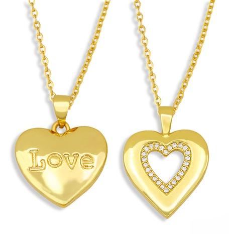 Collar de acero titanio con corazón de diamantes NHAS300814's discount tags