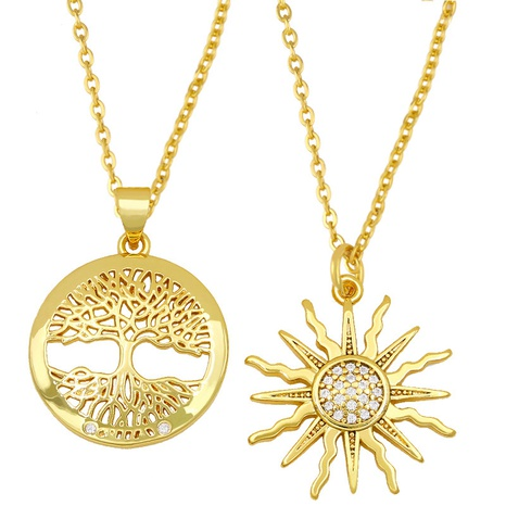fashion tree of life sunflower necklace NHAS300815's discount tags