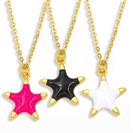 simple starfish pendant necklace  NHAS300834's discount tags