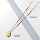 collier en acier titane avec pendentif ours mignon NHOK300892
