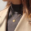 cute bear pendant titanium steel necklace NHOK300892