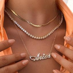collar de doce constelaciones de múltiples capas de diamantes de moda NHNZ300901
