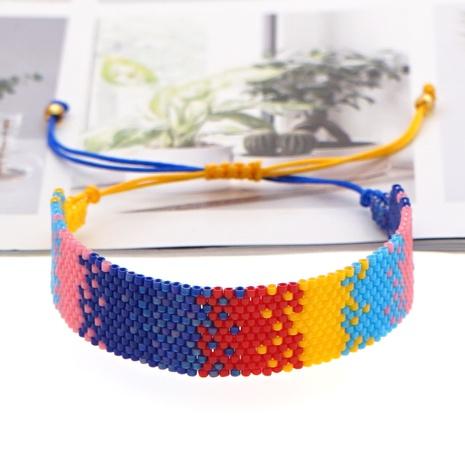 Einfache böhmische Art Regenbogen Farbverlauf farblich passend Perlen Armband NHGW300908's discount tags