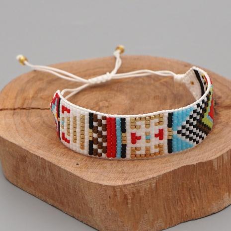 Böhmische Mode Mode handgewebte Perlen bunte geometrische Armband NHGW300909's discount tags