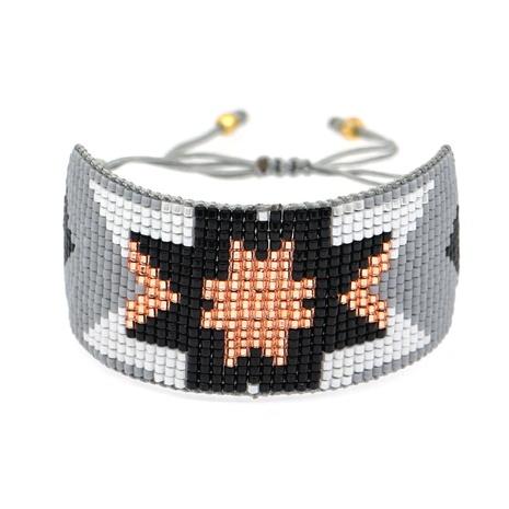 Bohemian ethnic Miyuki rice beads woven pure handmade geometric beaded bracelet NHGW300912's discount tags