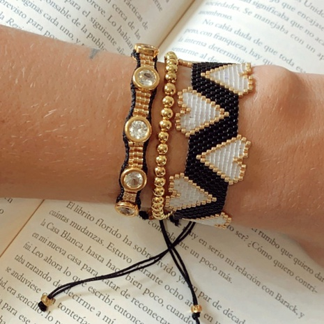 bohemian ethnic gold diamond bracelet NHGW300914's discount tags