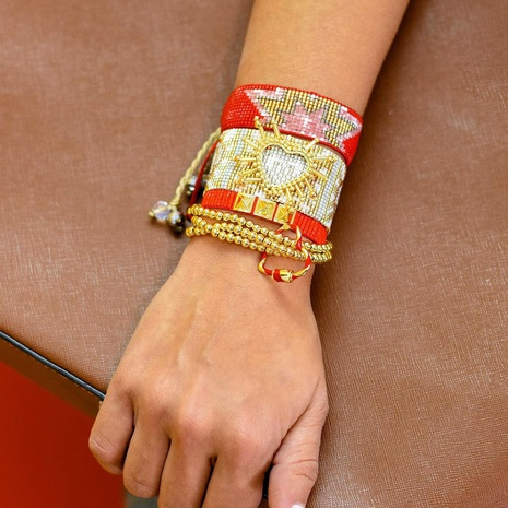 Bohemian Handmade Beaded Multilayer Armband NHGW300926's discount tags