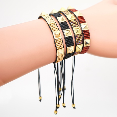 Miyuki Rice Bead Rows Armband NHGW300928's discount tags