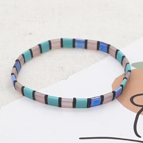 Einfaches blaues Perlenquadrat minimales importiertes Armband im ethnischen Retro-Stil NHGW300930's discount tags