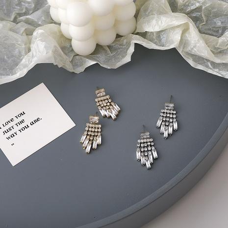 fashion simple diamond tassel earrings  NHMS300950's discount tags