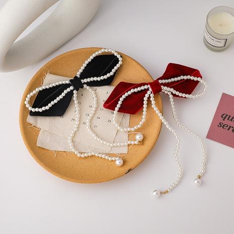 Épingle à cheveux à pompon en perles NHMS300959's discount tags