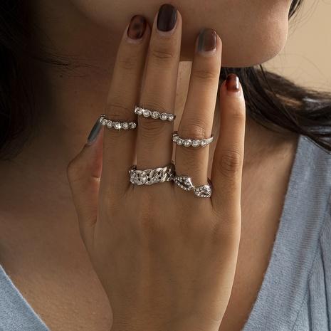 ensemble de bagues all-match rétro en diamant NHXR300971's discount tags