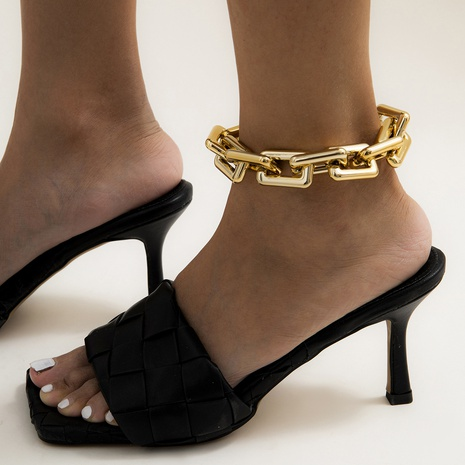 hip-hop style retro thick chain anklet NHXR300991's discount tags