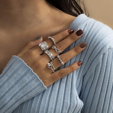 ensemble de bagues en diamant géométrique simple NHXR301005's discount tags