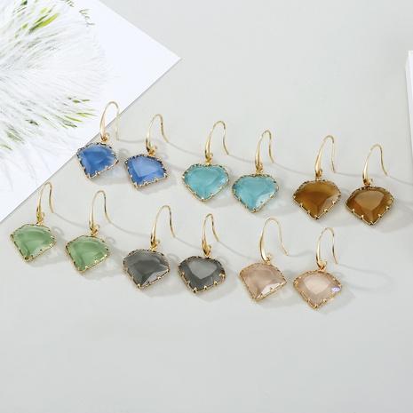 Pendientes de cristal poligonal geométrico de moda NHGO301010's discount tags