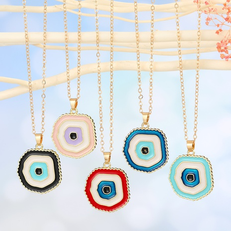 Mode Dämon Auge Anhänger Halskette NHGO301012's discount tags