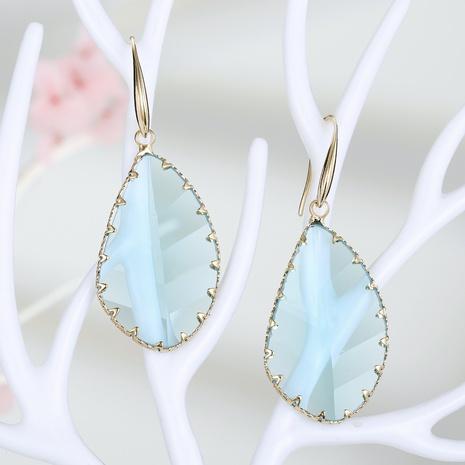 pendientes de cristal geométrico de nueva moda NHGO301014's discount tags