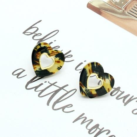 Korea new love hollow resin earrings NHGO301020's discount tags