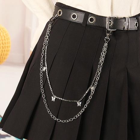 Hip-hop punk wild butterfly circle waist chain NHAU301117's discount tags