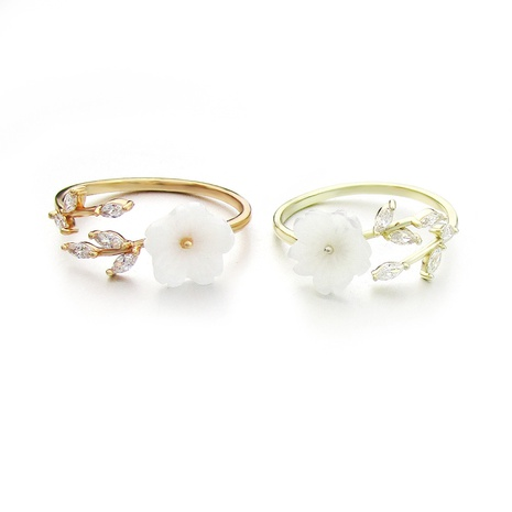 Korean fashion daisy flower open ring NHLJ301141's discount tags