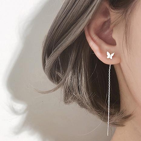 fashion butterfly long earrings NHPF301142's discount tags