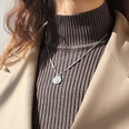 NHOK1365441-Steel-color-necklace-42+5cm