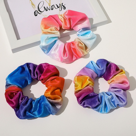 Golden velvet hair scrunchies tie-dye gradient hair accessories wholesale NHQC301686's discount tags