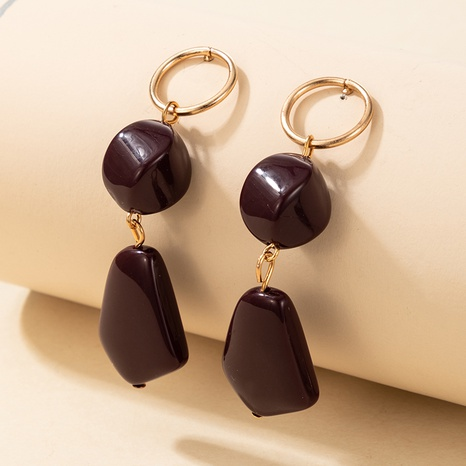 fashion new exaggerated multi-layer resin earrings NHGY301770's discount tags
