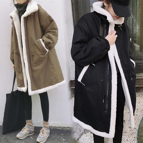 Veste matelassée en coton et laine d'agneau NHUO301764's discount tags