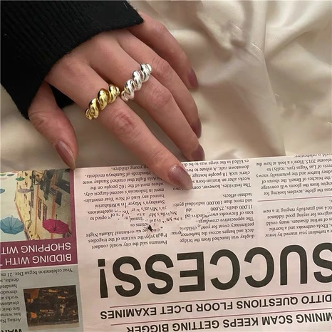 Korea fashion twist open ring NHYQ301208's discount tags