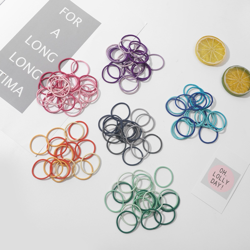 Children's simple colorful hair ring set NHMO301241