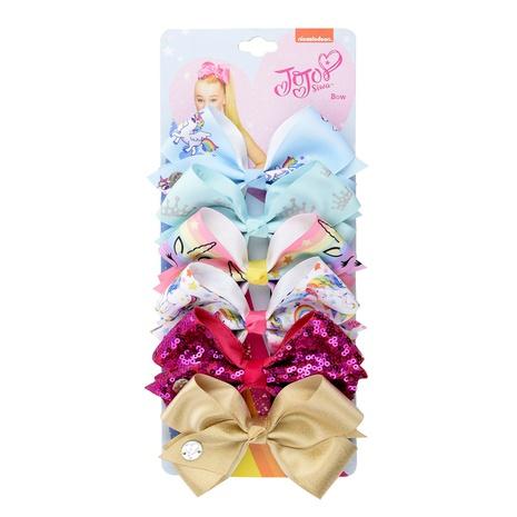 lindo juego de horquillas de unicornio con lazo de sirena NHMO301277's discount tags