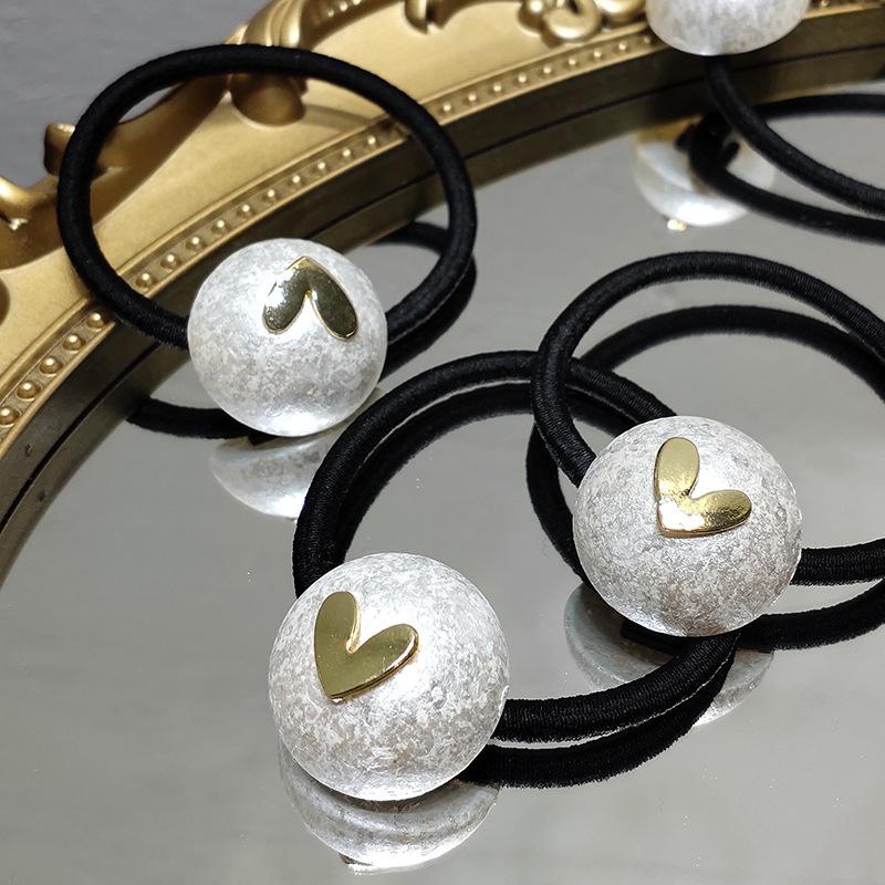 Korean love pearl make old hair rope  NHAR301297