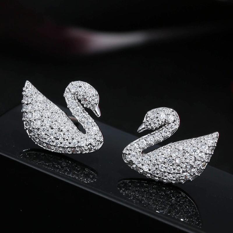 Fashion Sweet OL Concise Swan Earrings NHSC301754
