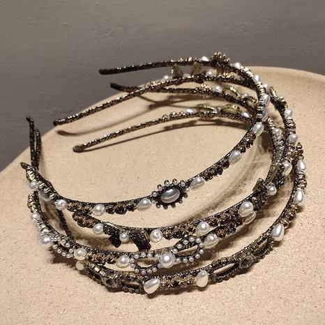 Diadema de perlas con incrustaciones de diamantes de Corea NHAR301302's discount tags