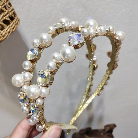 Diadema de diamantes de imitación de perlas elegantes simples de Corea NHAR301304's discount tags