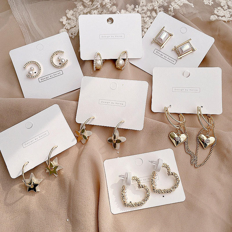 New retro pearl earrings NHHI301346