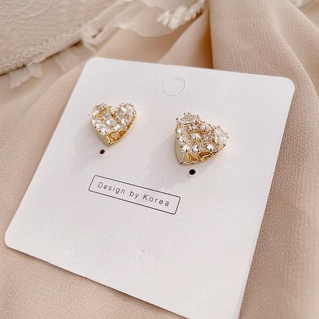 Korean new simple heart-shaped earrings  NHHI301350's discount tags