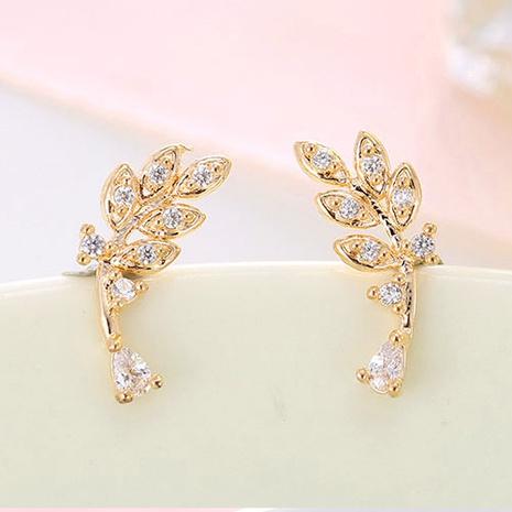 Korean fashion sweet leaf earrings NHSC301751's discount tags