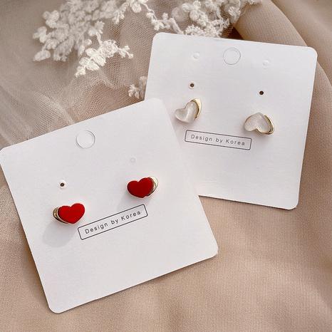 Korean new love alloy earrings NHHI301356's discount tags