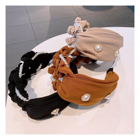 Diadema de perlas retro coreana NHHD301376's discount tags