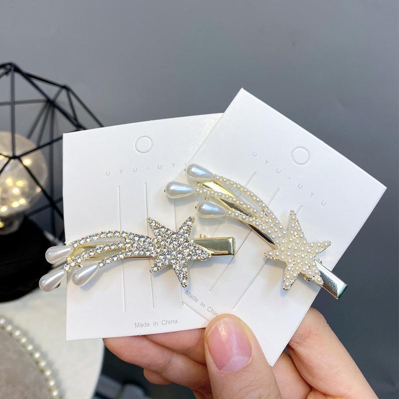 nouveau clip en alliage toile  cinq branches serti de diamants NHFS301432