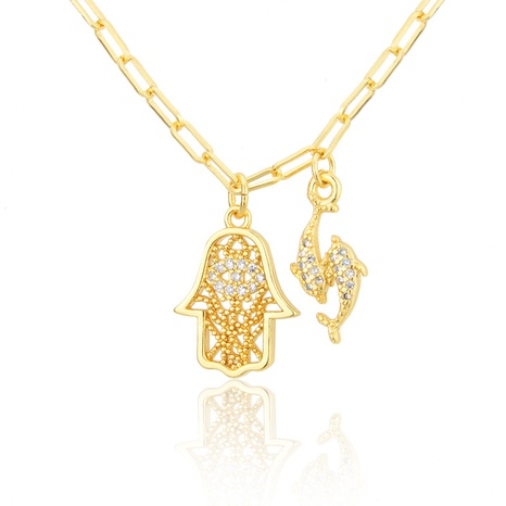 gold-plated Pisces pendant necklace NHBP301522's discount tags