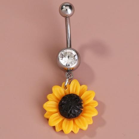 Sonnenblumen Edelstahl Nabel Nagel NHAN301529's discount tags