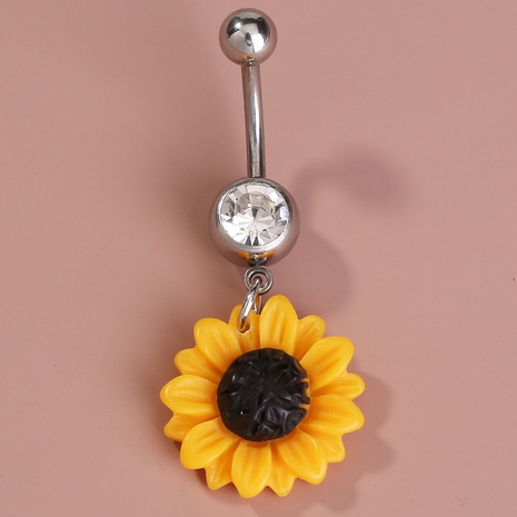 sunflower stainless steel navel nail NHAN301529's discount tags