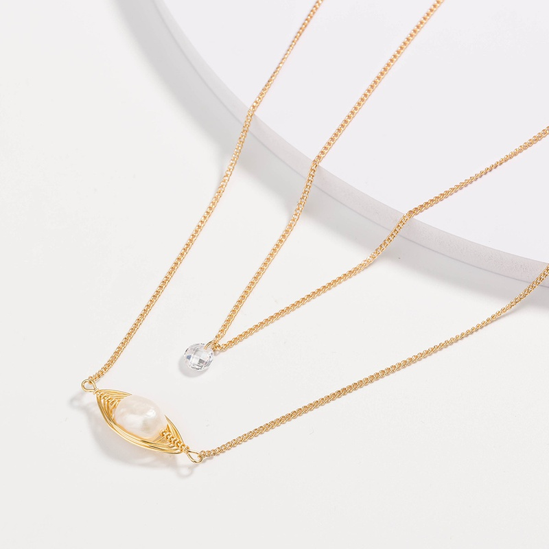 fashion pearl multi-layer necklace NHAN301536