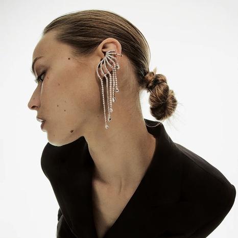 fashion crystal tassel earrings NHLA301561's discount tags