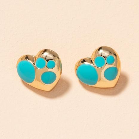 alloy blue heart earrings NHAI301589's discount tags